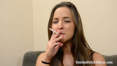 Smoking fetish mesmerizing scene Amirah