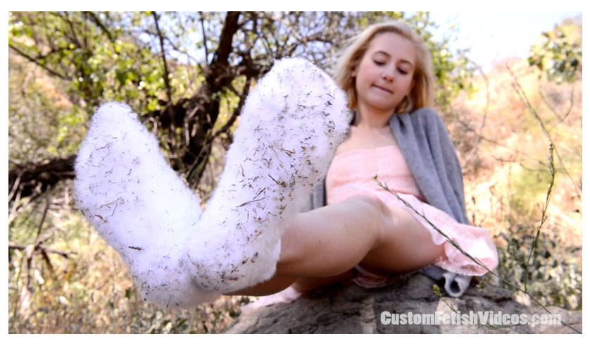 Custom sock fetish video - Odette getting her socks all muddy