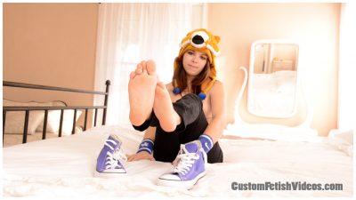 Foot fetish bare soles Jenni Bliss