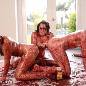 Messy Girls 3: Pie Whores - Veronica Vain, Sasha Heart, Katy Kiss wet and messy