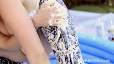 Wet and Messy Boots - Lauren Phillips gunge, slime, whipped cream, pudding