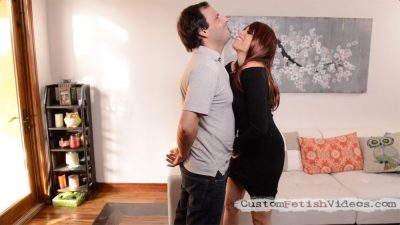 Femdom Cum Force - Raven Rae busts balls and ties up a sub