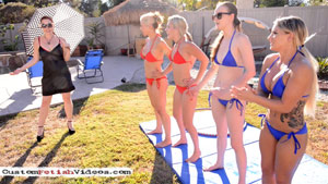 Balloon Fetish Video - Sit-Pop Pornstar Balloon Races in Bikinis