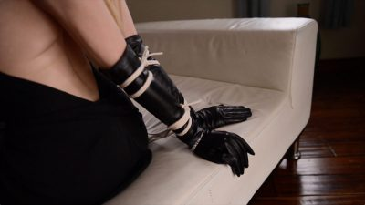 Hypno fetish gloves - Riley Reyes is tied up and hypnotizing