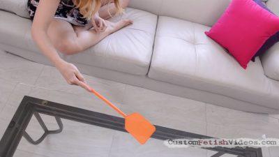 Flyswatter fetish Stella Cox