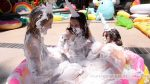 Inflatables Fetish - Riley Reyes, Gabriella Paltrova, Juliette March pop all inflatables in sight and wrestle in shaving cream