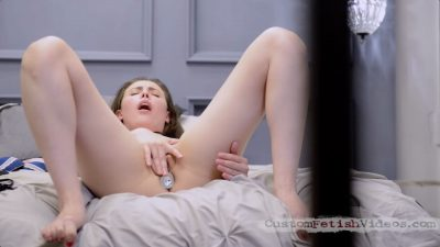 Casey Calvert puts you in a cage and masturbates while she ignores you and waits for her master to come