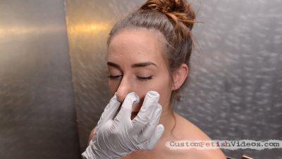 Nose pinch medical fetish video: Dr Casey Calvert examines Cassidy Kleins nose