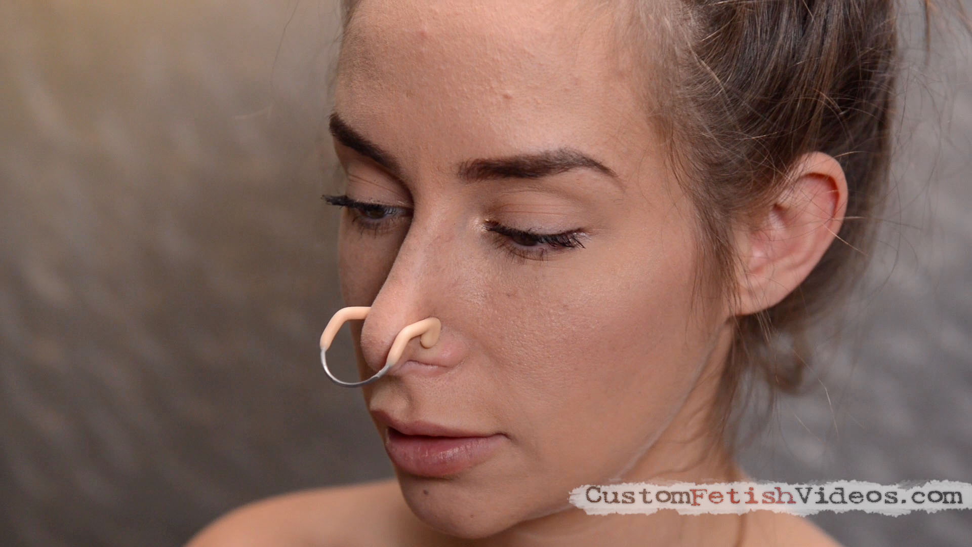 Femdom nose pinch