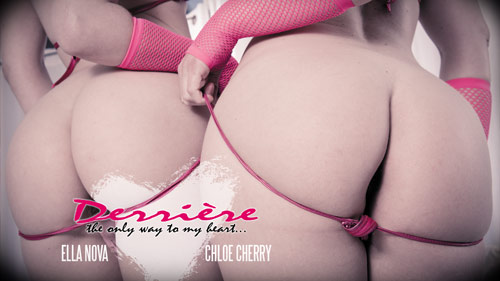 Derriere - Ella Nova and Chloe Cherry anal sex lesbians