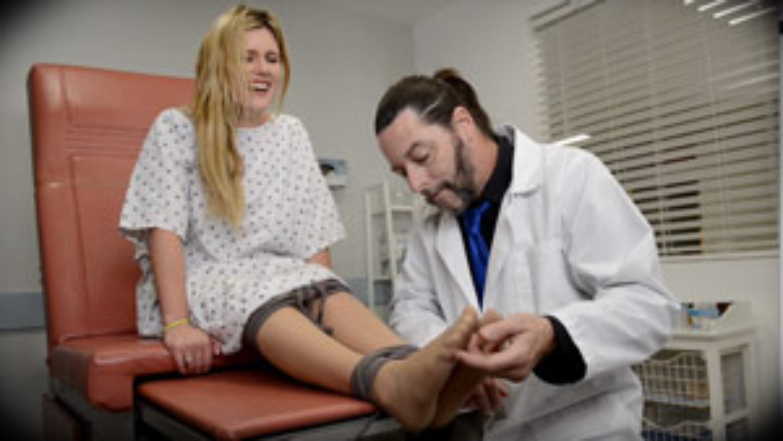 Dr Tickler featuring Sasha Heart - Tickle fetish foot fetish