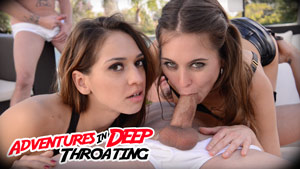 Riley Reid and Sara Luvv in Adventures in Deep Throating: An Epic Anatomik Blowbang