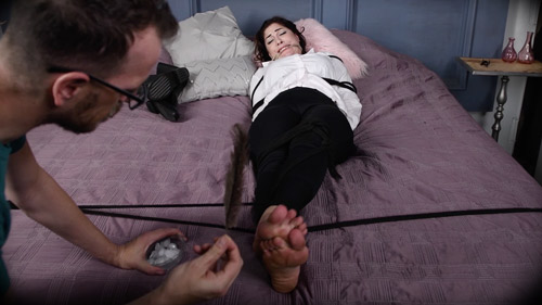 Kymberly Jane ticklish foot fetish