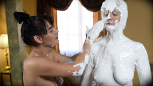 Plaster Caster 2 - Charlotte Cross wet and messy stuck fetish